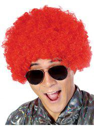 Short Full Bang Fluffy Afro Curly Party Synthetic Wig -