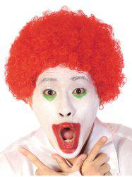 Short Full Bang Afro Curly Synthetic Clown Wig -