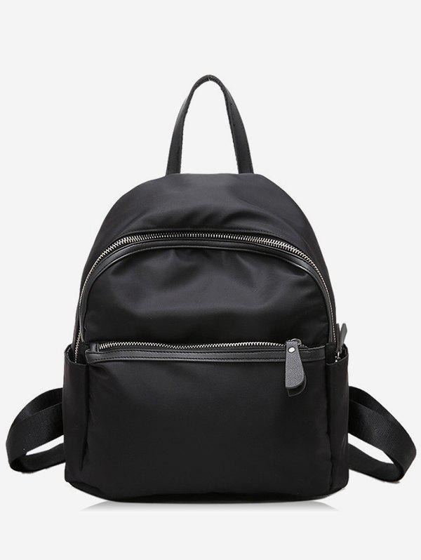 Discount PU Panel Zipper Backpack
