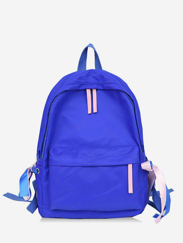 Online Contrast Ribbon Decor Detail Nylon Casual Backpack
