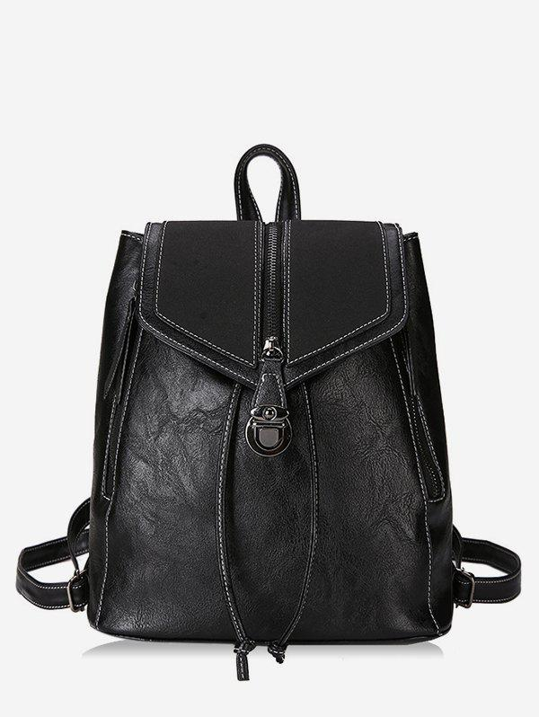 Unique College Style Thread PU Backpack