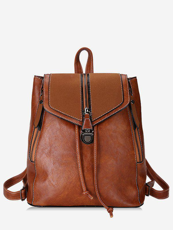Sale College Style Thread PU Backpack