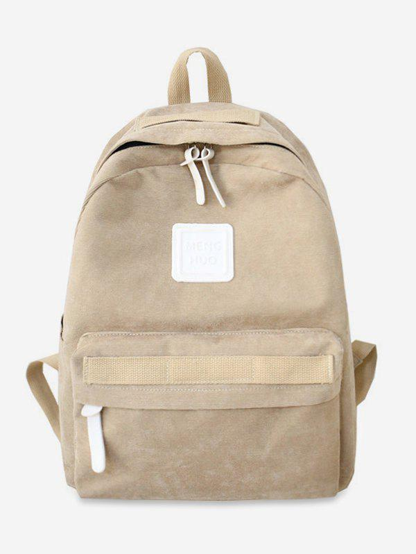 Cheap Solid Casual Corduroy Backpack