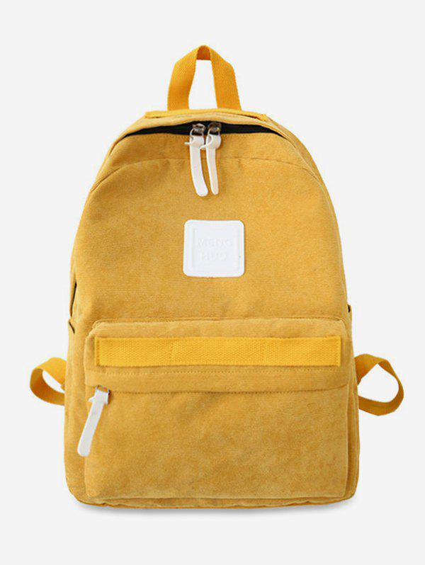Shop Solid Casual Corduroy Backpack