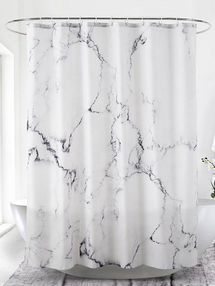 Outfits Marble Print Waterproof Bathroom Shower Curtain
