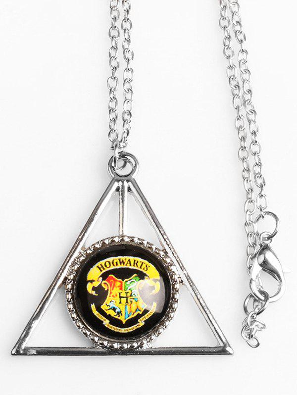 Trendy Gothic Triangle Coffin Lion Magic Hat Necklace