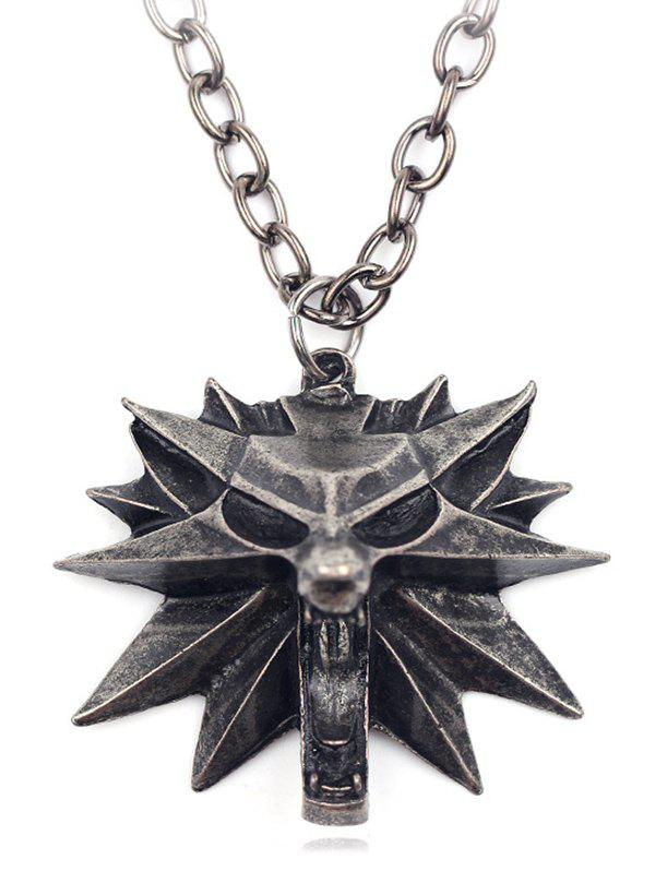 Outfit Gothic Triangle Coffin Lion Magic Hat Necklace