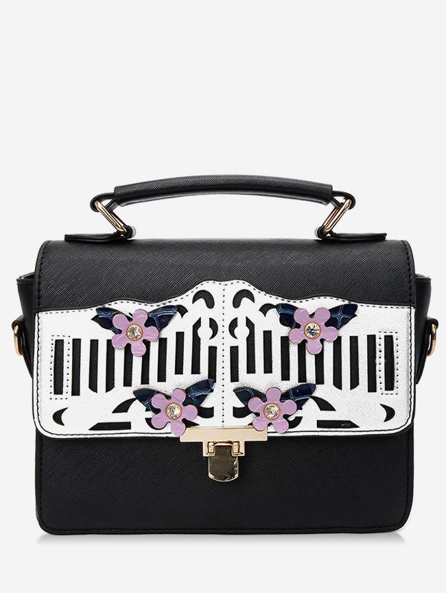 Cheap Stylish Floral Hollow Out Design Handbag