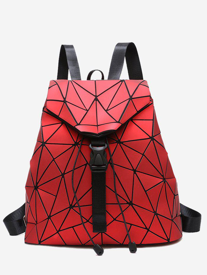 Outfit Geometric Pattern Over Lap Backpack