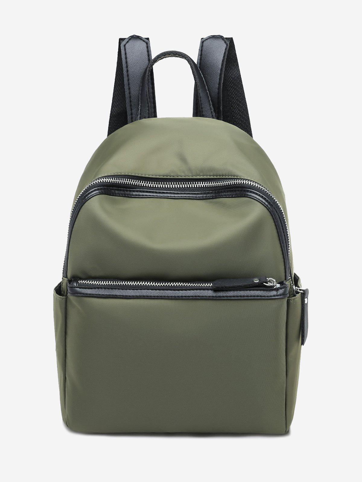 Chic Casual Solid Zipper Nylon Backpack