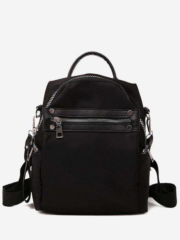 Fancy Solid Zipper Backpack with Rivets