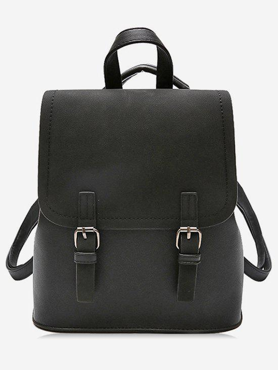 Fashion Color Block Double Hasp PU Backpack