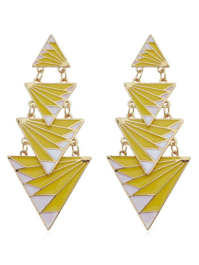 Outfits Metal Chain Triangle Joint Stud Earrings