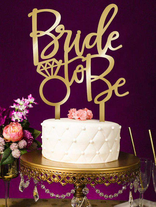 Fancy Bride To Be Pattern Wedding Cake Topper