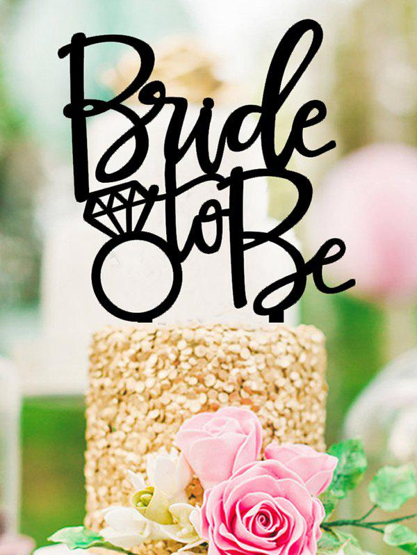 Chic Bride To Be Pattern Wedding Cake Topper