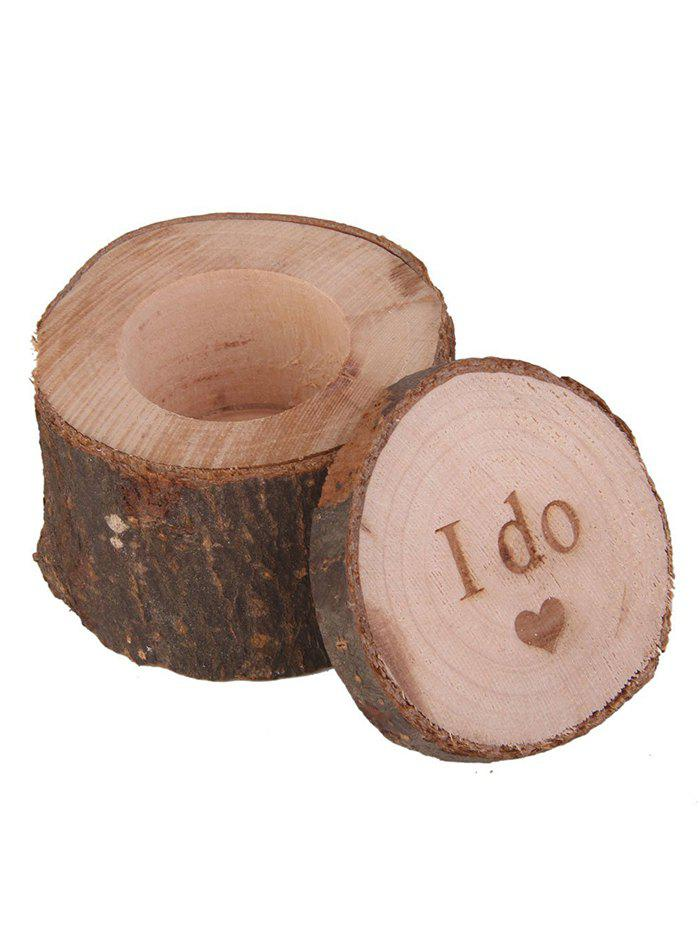 Outfit I Do Wooden Wedding Ring Holder