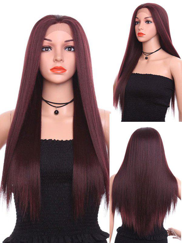 Unique Long Free Part Straight Party Lace Front Synthetic Wig