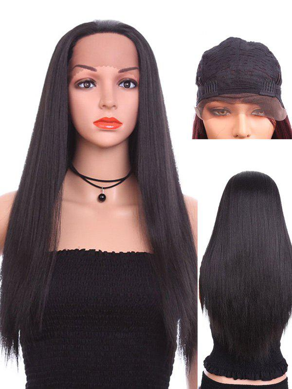 Best Long Free Part Straight Party Lace Front Synthetic Wig