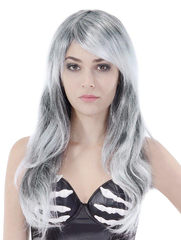Trendy Long Side Bang Straight Colormix Cosplay Party Synthetic Wig