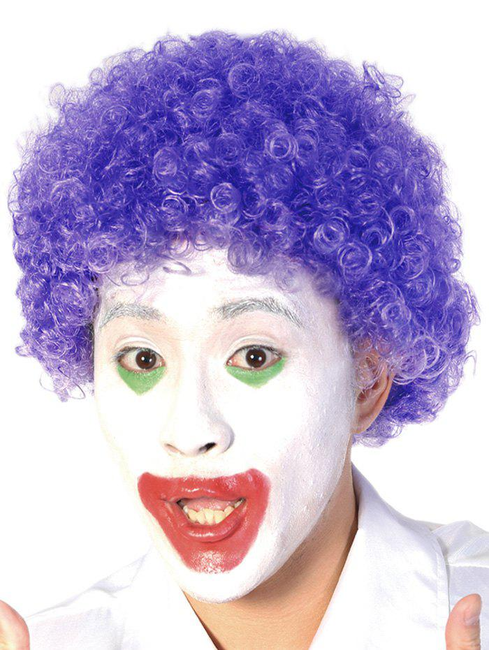 Discount Short Full Bang Afro Curly Synthetic Clown Wig