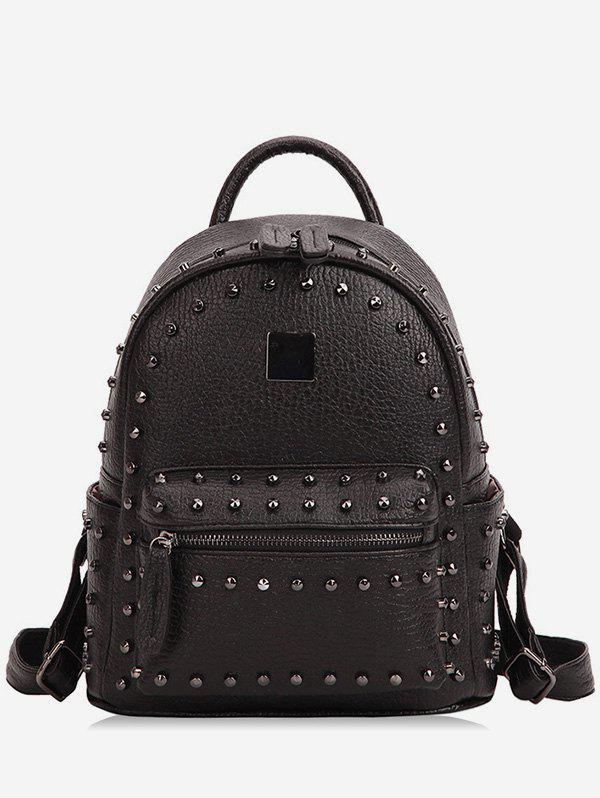Shops Zipper PU Rivets Backpack