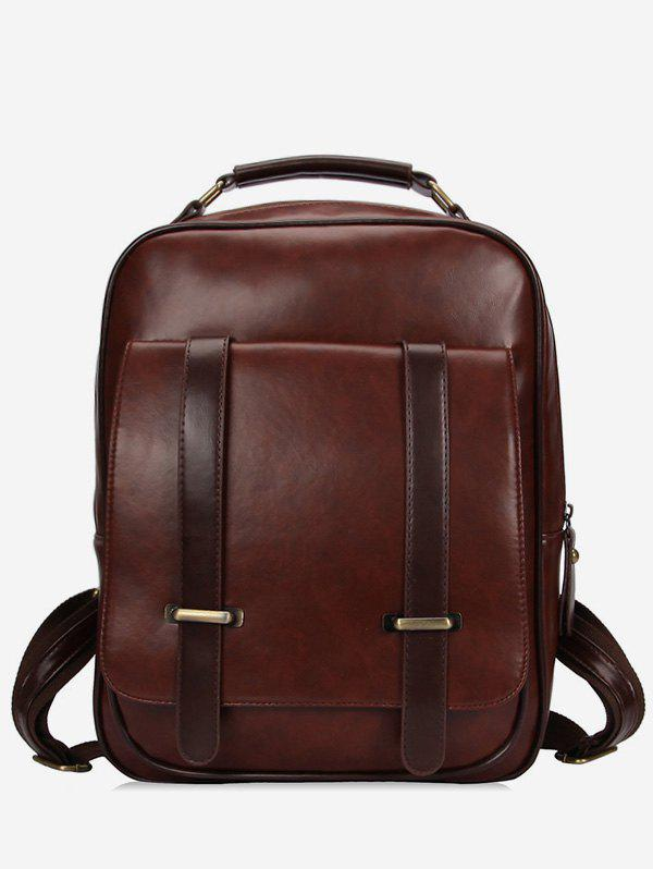 Affordable Double Arrows PU Zipper Backpack