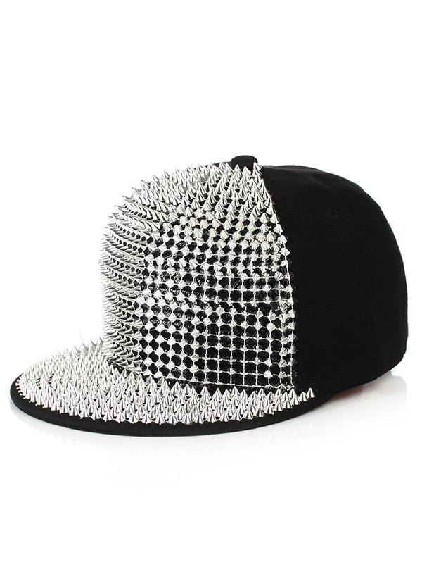 Store Punk Rivets Embellished Baseball Cap