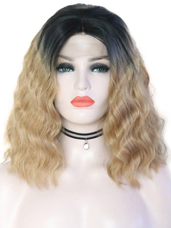 Outfit Center Parting Ombre Wavy Lace Front Synthetic Wig