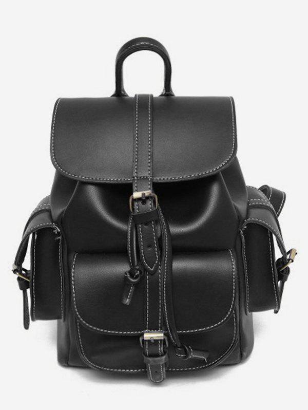 Trendy Large Capacity PU Backpack