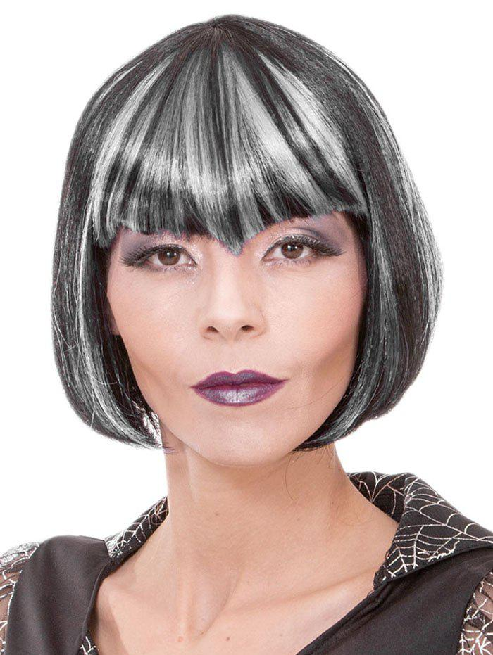 Cheap Full Bang Short Colormix Straight Bob Cosplay Synthetic Wig