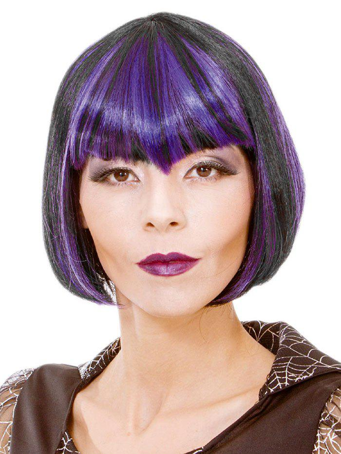 Outfit Full Bang Short Colormix Straight Bob Cosplay Synthetic Wig