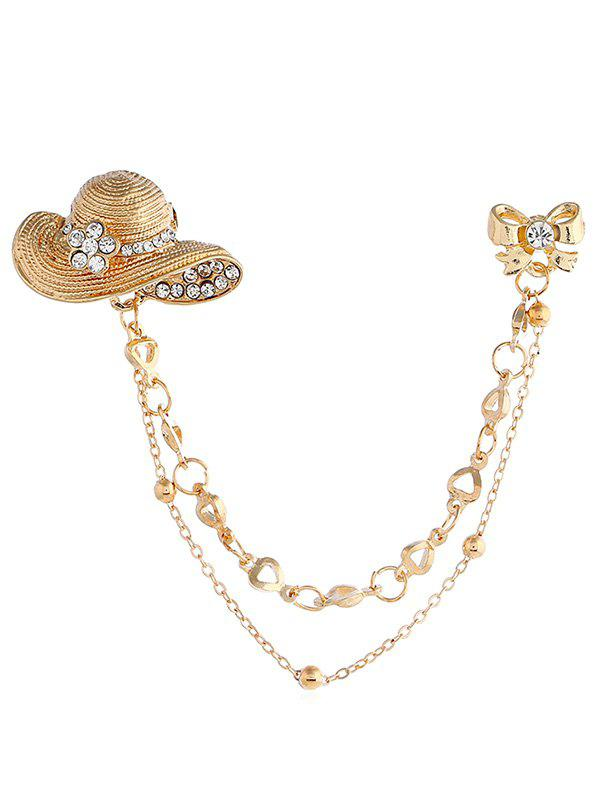 Outfits Rhinestone Hat Bowknot Brooch