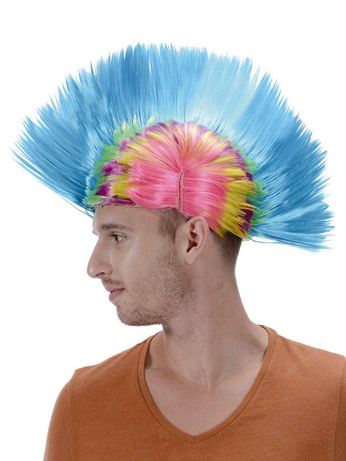 Store Short Colorful Native American Mohican Wig
