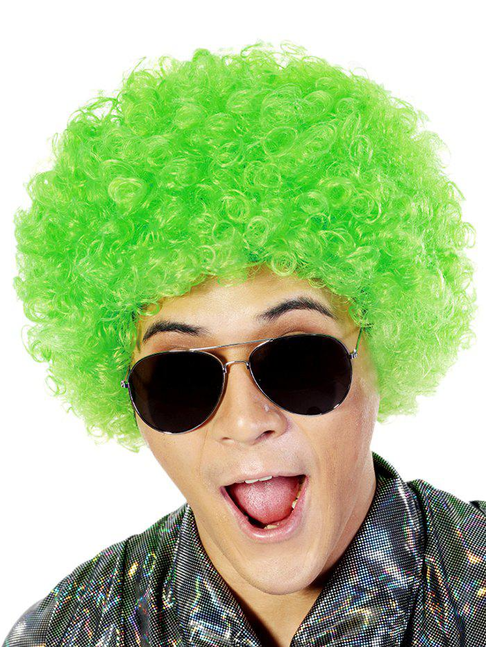 Discount Short Full Bang Fluffy Afro Curly Party Synthetic Wig