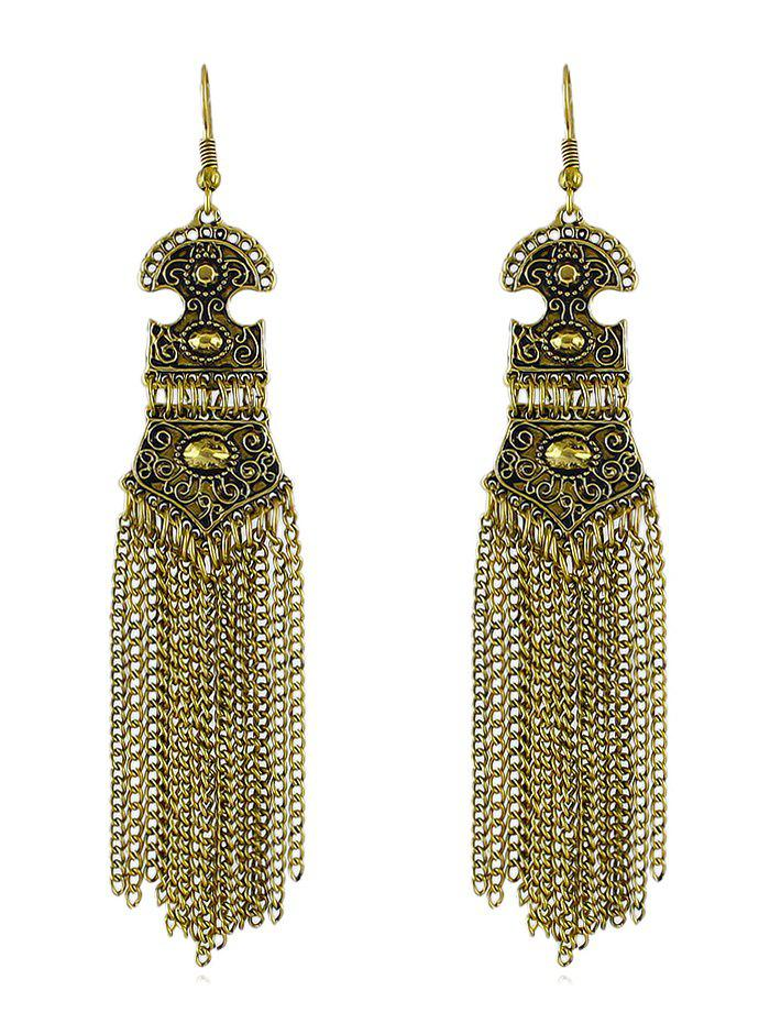 Affordable Vintage Chain Fringed Earrings