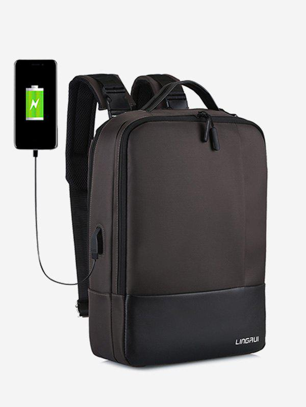 Outfit Chargeable Multifunction Contract Color Backpack