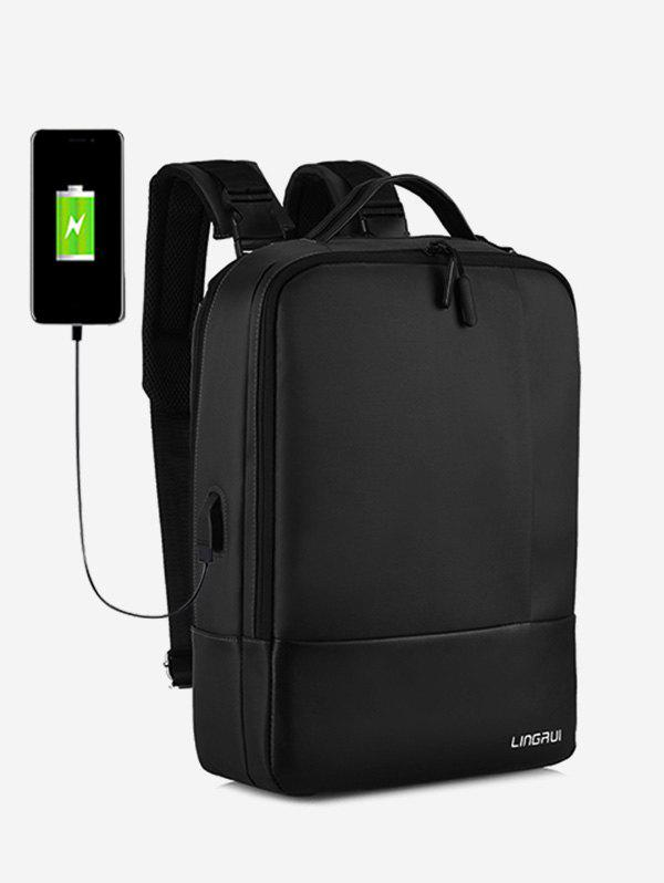 Trendy Chargeable Multifunction Contract Color Backpack