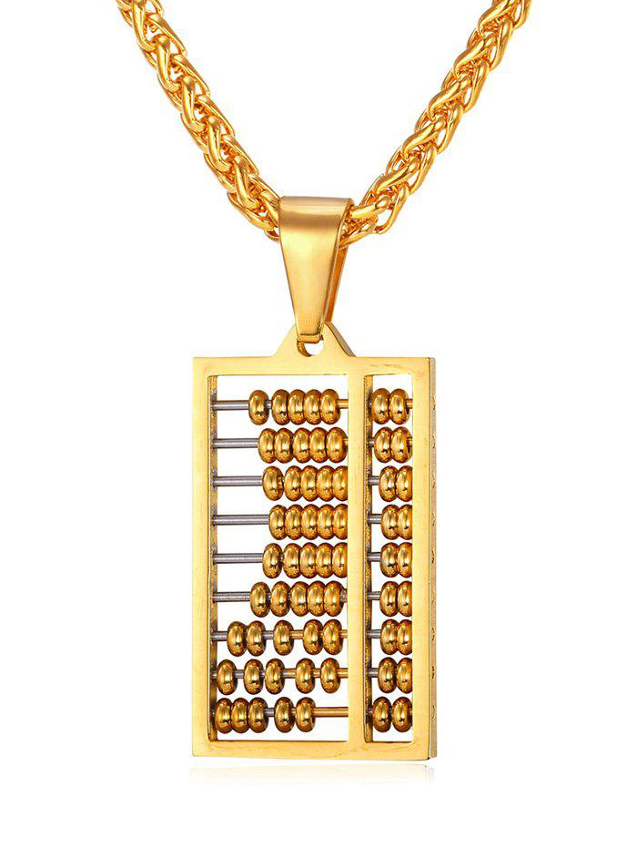 Discount Stylish Metal Hollowed Abacus Necklace