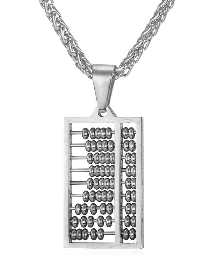 Trendy Stylish Metal Hollowed Abacus Necklace