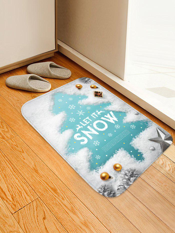 Outfits Christmas Snow Tree Printed Floor Mat