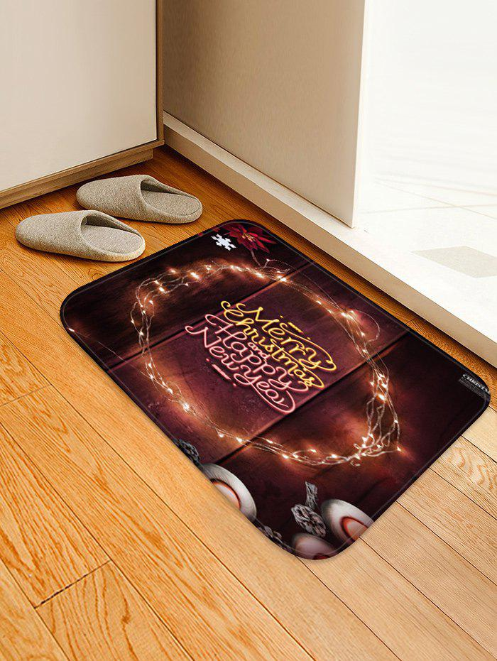 Discount Merry Christmas Happy New Year Printed Floor Mat