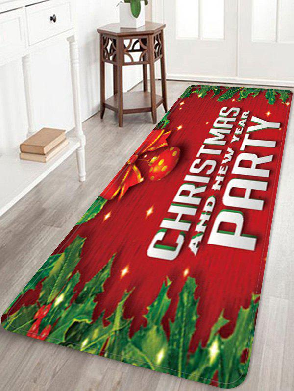Chic Christmas and New Year Printed Floor Mat