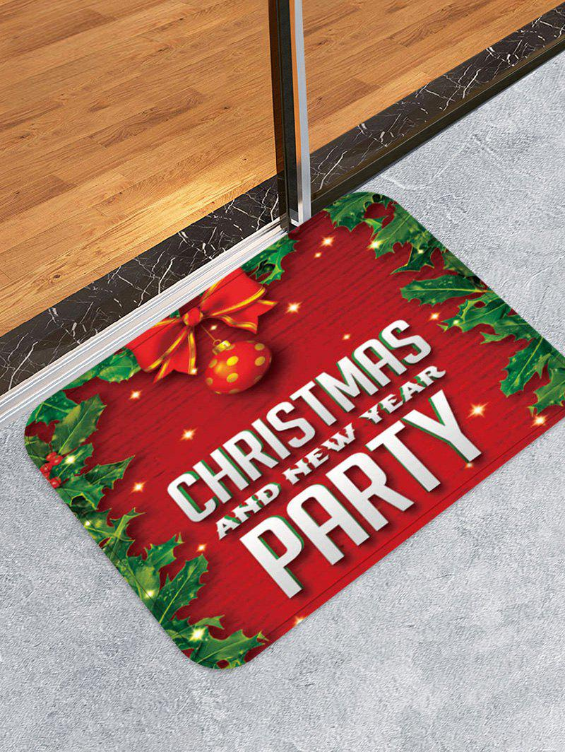 Discount Christmas and New Year Printed Floor Mat