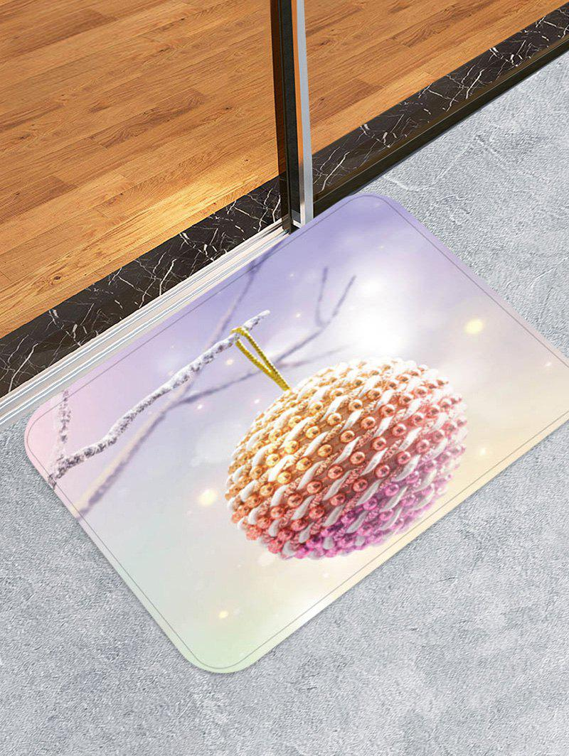 Chic Christmas Ball Design Floor Mat