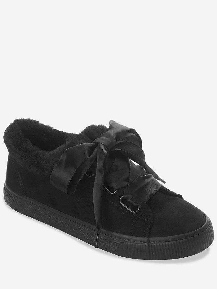 Cheap Ribbon Lace Suede Low Top Sneakers