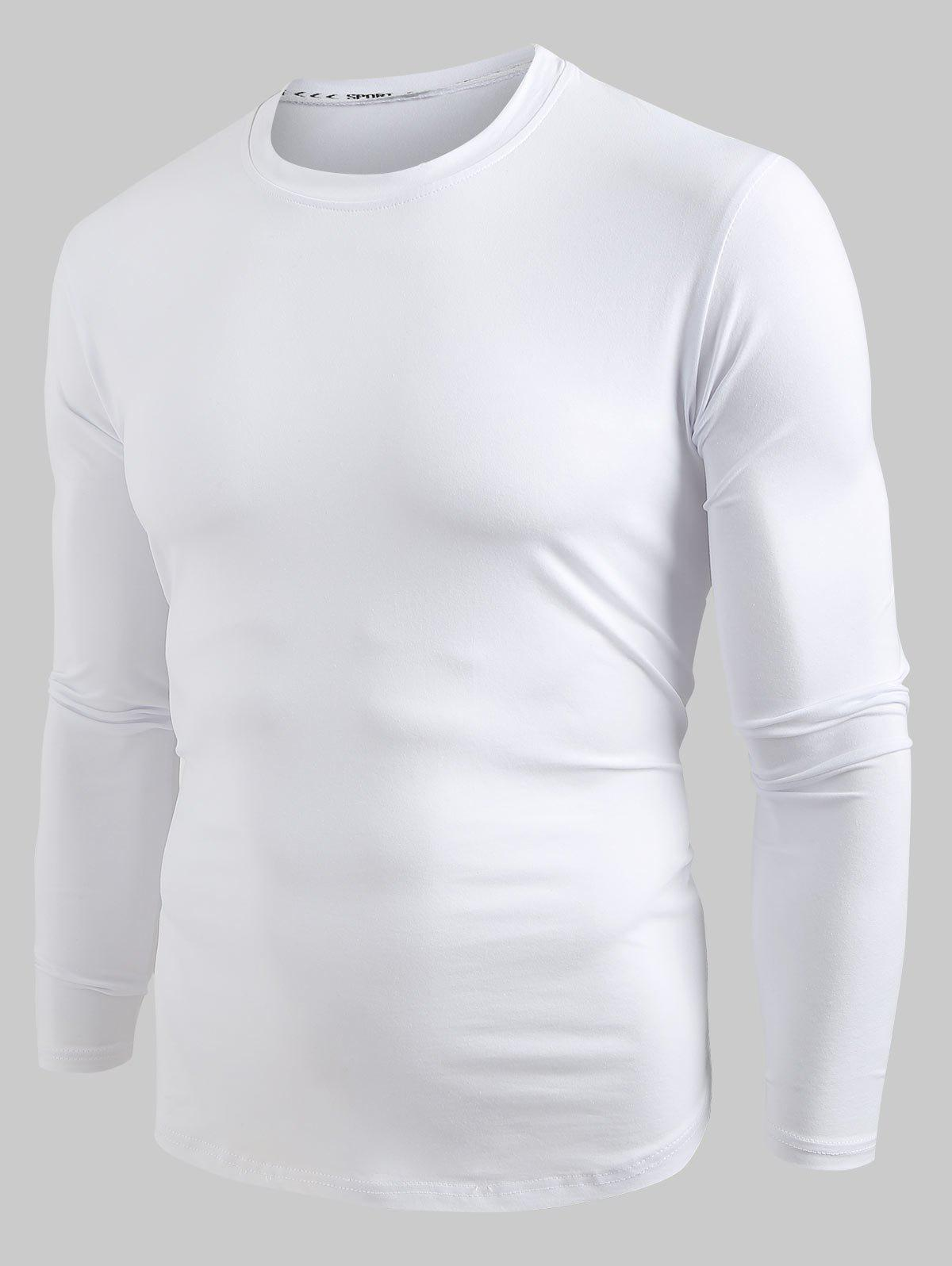 New Solid Color Long Sleeves Pullover Shirt
