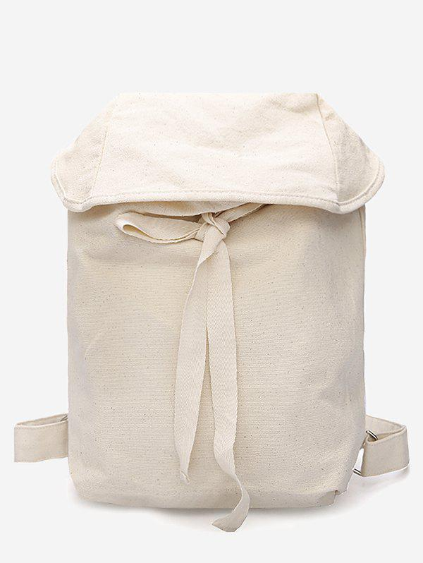 Fashion Simple Style Lace Up Backpack