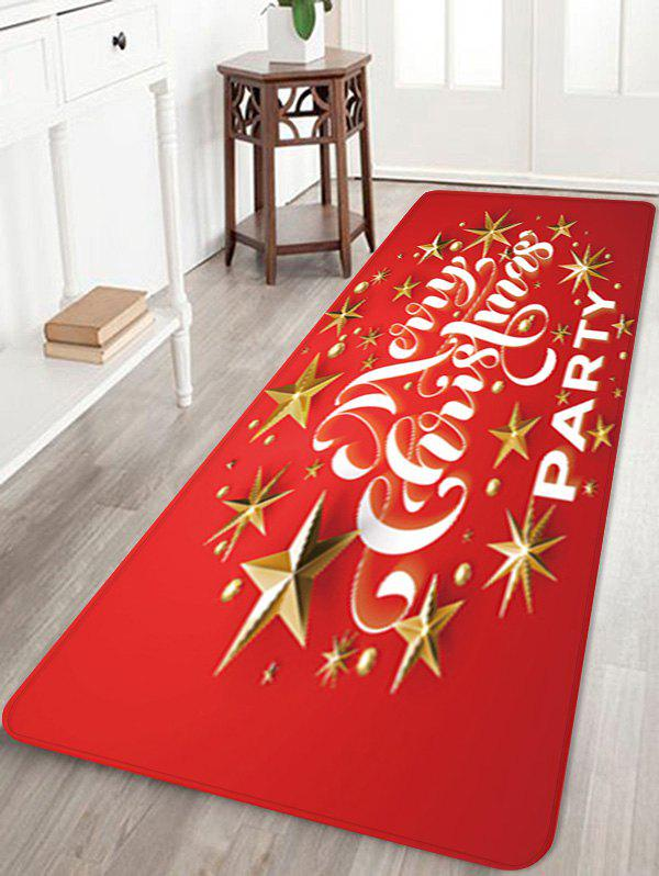 Store Christmas Star Party Printed Floor Mat
