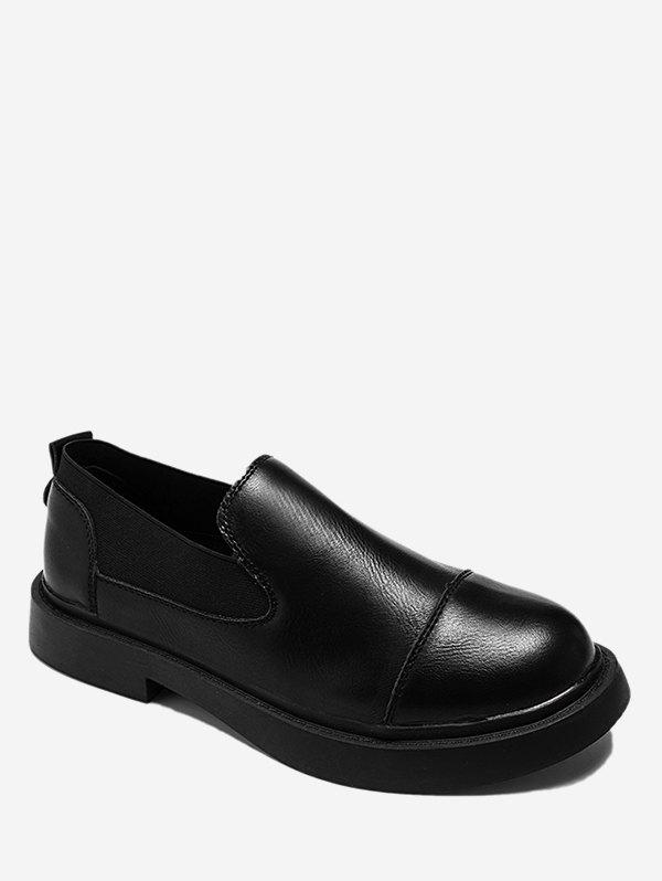 Shops Faux Leather Slip On Flats