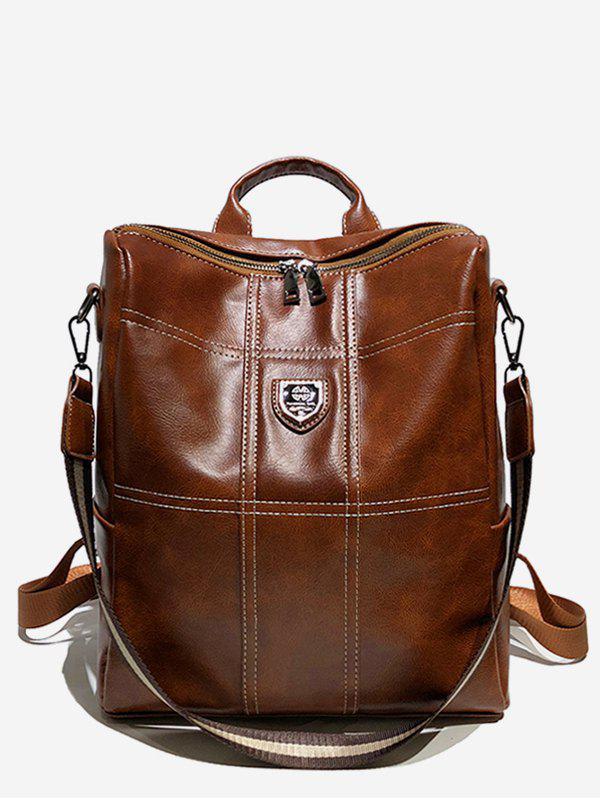 Hot College Style Faux Leather Zipper Backpack
